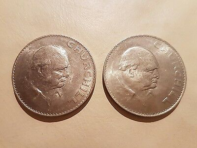 2 x 1965 Churchill Crowns
