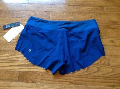 Lululemon Bnwt Fast As Light Shorts Teal Blue Size 10