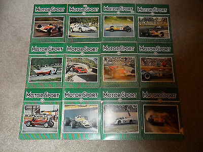 All 12 MOTOR SPORT Car Magazines From 1968