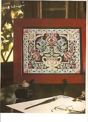 "Counted Cross~Stitch Chart ""fraktur"" Sampler"
