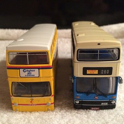 Diecast 2 Buses 1 china city bus and 1 china motor bus