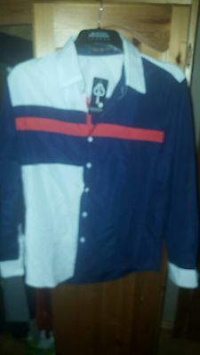 Mens Blue white and red Casual Shirt - M - top condition