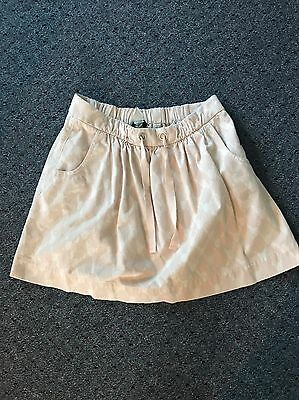 J CREW Pink Beige HIGH WAISTED SKIRT WOMENS SIZE 8, Tie Up, 100 Cotton