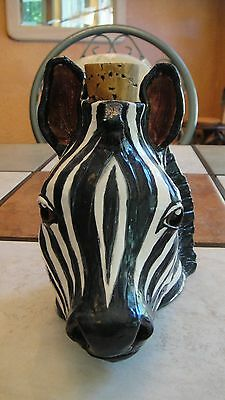 African Face Jug Hand Built Pottery
