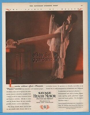 1928 Savage Arms Health Motor Exercise without effort print ad