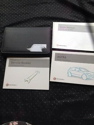 Vauxhall Astra Handbook Set With Service Book