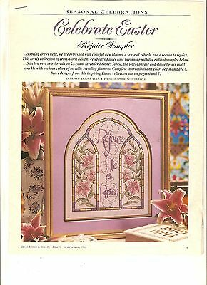 "Counted Cross~Stitch Chart ""rejoice*sampler"" Easter Sampler"