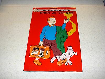 TINTIN laquered wall wooden plaque  picture art 20cm by 30cm TINTIN AU VIETNAM