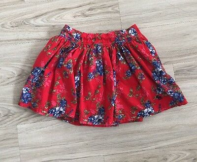 Abercrombie And Fitch Red And Blue Floral Mini Skirt Size Small