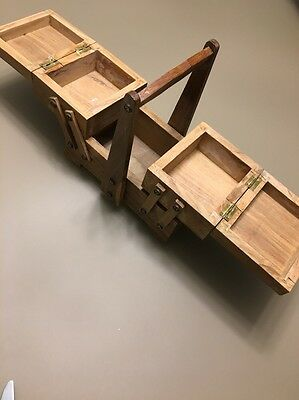 Wooden 2 Tier Cantilever Sewing/Storage Box