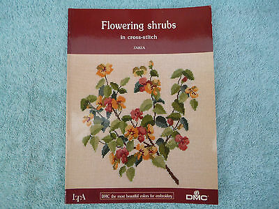 Book of Counted Cross Stitch Charts , ' Flowering Shrubs ' , DMC.