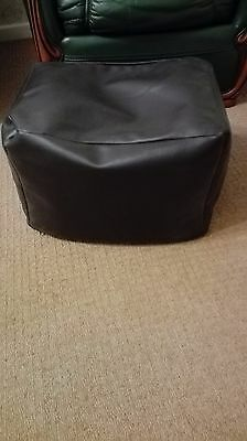 Foot Stool, Faux Brown Leather