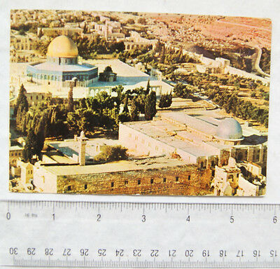 old postcard Jerusalem, Temple from the Air