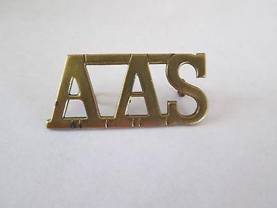 WWII? British A.A.S. (Anti Aircraft Searchlight Unit)? Brass Shoulder Title