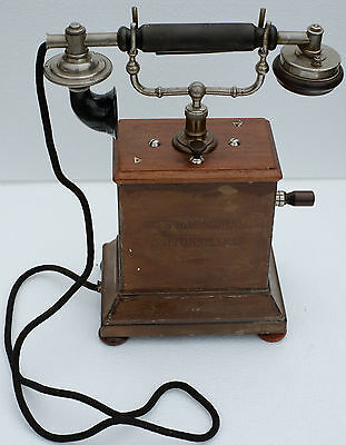 Ericsson Desk Telephone. Early 1900's. Still rings by turning of the handle.