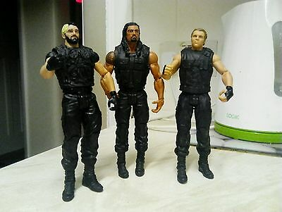 WWE Wrestling Figures The Shield- Dean Ambrose,Seth Rollins,Roman Reigns