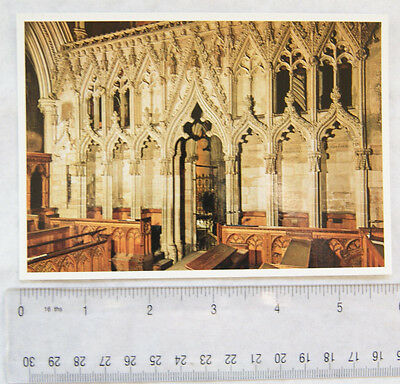 old postcard Southwell Minster, Choir Screen from the East
