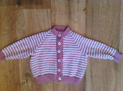 Handmade Hand Knitted Baby Girls Cardigan 3-6 Months Clothes Will Combine Post