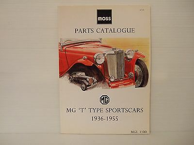 Moss Parts Catalogue Mg 't' Type Sports Cars 1936-1955