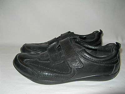 Marks & Spencer Black Leather Trainers, walking Shoes size 7