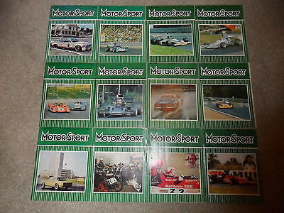 All 12 MOTOR SPORT Car Magazines From 1973