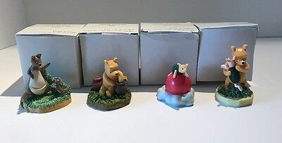 Disney Lenox Winnie The Pooh Thimble Collection(Lot Of 4)