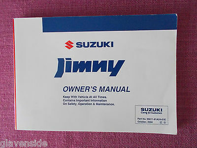 Suzuki Jimny Owners Manual - Owners Guide - Handbook. (Suz 160)