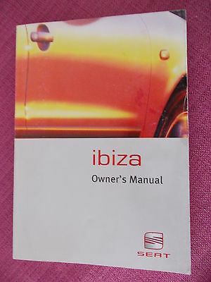Seat Ibiza Owners Manual - Owners Guide - Handbook Includes 1.8 Cupra (Acq 2563)