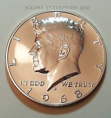 1968 S Kennedy *uncirculated Proof* Half Dollar *40% Silver*   **free Shipping**