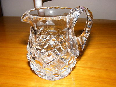 Vintage Glass Cream Milk Water Jug