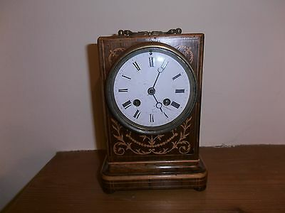 Small Inlaid Wooden Clock