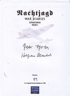 SIGNED Bookplate/Card For Nachtjagd Vol 1 -Luftwaffe Night Aces Spoden & Moeckel