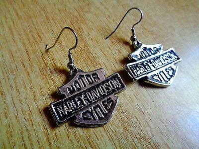 Vintage Harley Davidson Motorcycle Earrings Factory HD Ring Hat Pin Patch Shirt