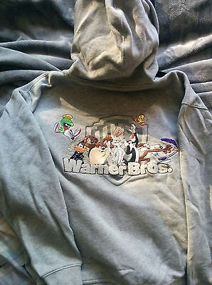 Looney Tunes Wb Hoodie Sweatshirt-Embroidered-Limited-Rare-L-Collectors Item!