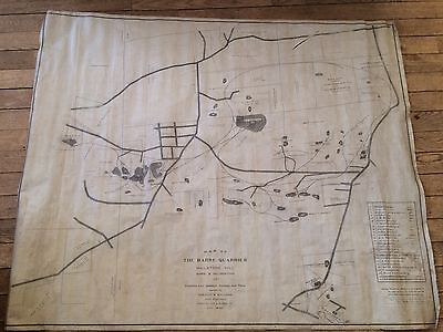 Antique 1906 Large Map Of Barre Vermont Granite Quarries Engineer Plan RARE Old