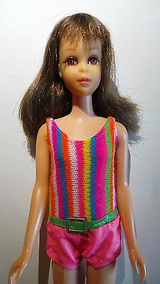 Vintage Francie Doll Brunette Flip TNT 1960's Rooted Lashes 1170 Barbie ORIGINAL