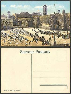 Palestine Old Colour Postcard Bethlehem, Church of The Nativity, Children Israel