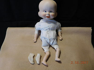 Antique 3 Face Germany Doll w Bisque Head Arms & Legs