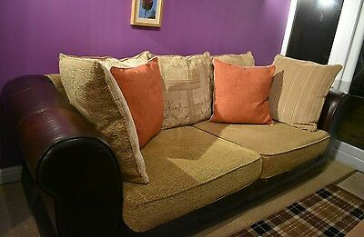 large 2 seater sofa leather and material