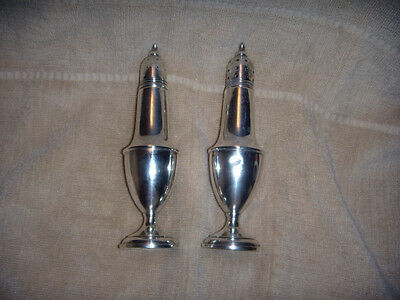 Vintage Sterling Silver Salt and Pepper Shakers  FREE SHIPPING