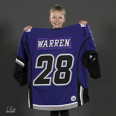 2017 Game Used Calgary Inferno DIFD CWHL Jersey - 28 Louise Warren