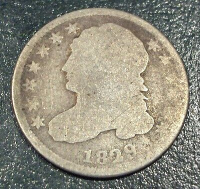 1829 10 Cent Capped Bust USA Silver Dime Free Shipping