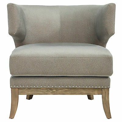 """Wynn"" Collection Accent Chair in Grey and Ivory"