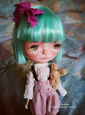 Ooak Blythe Doll with RESHAPED eyes! Unique look! Layaway