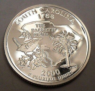 2000 S South Carolina *90% Silver*  *proof*  State Quarter   **free Shipping**