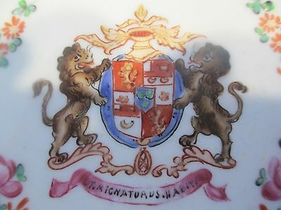 """c1850 Samson Lauder Family Coat of Arms Armorial Chinese Export Style Plate 7"""""""