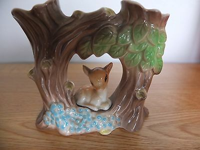 Vintage Hornsea Pottery Fauna Royal Double Vase Good Condition