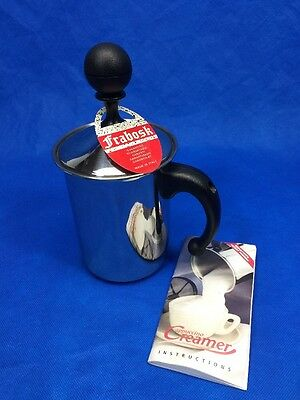 Frabosk Stainless Steel Induction Cappuccino Coffee Milk Frother Creamer