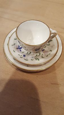 miniature cup, saucer and plate