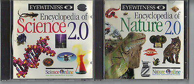 2 X Eyewitness Encyclopedia -  Nature 2.0 and Science 2.0  PC CD-ROM